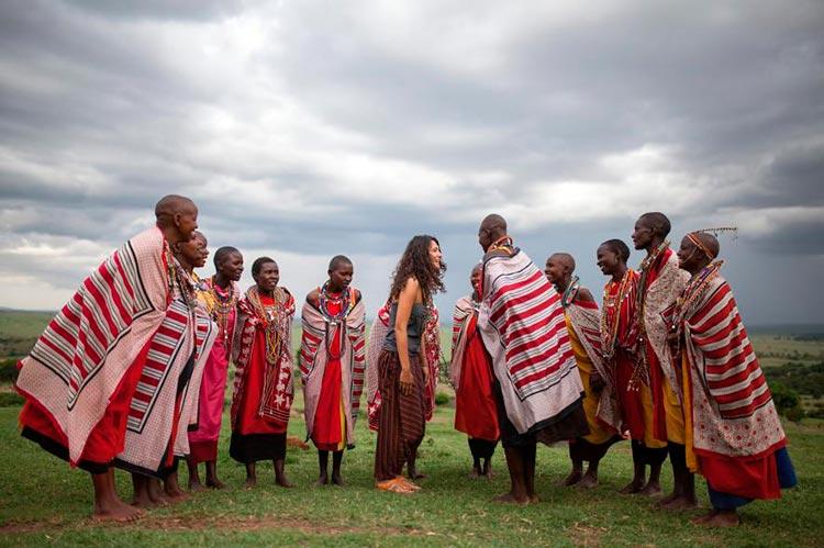 танец с аборигенами масаи