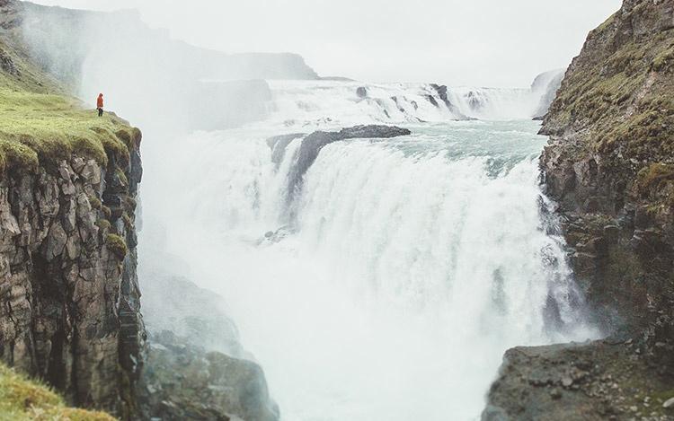 Водопад Gullfoss, Исландия.