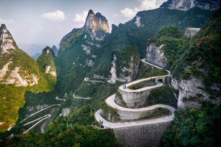 Горная дорога Китай
