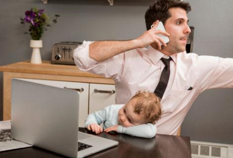 трудоголик и ребенок