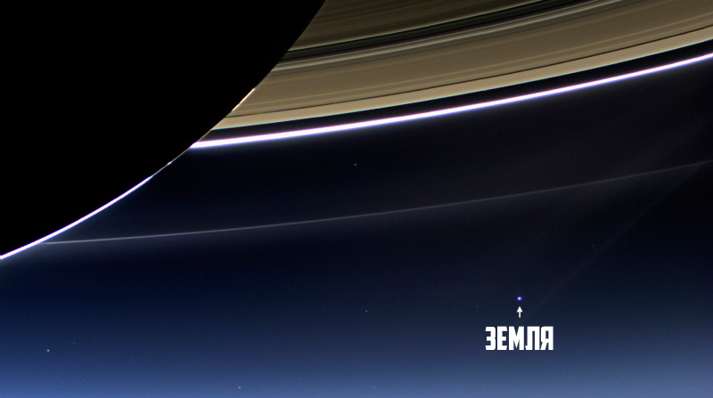 земля за кольцами сатурна