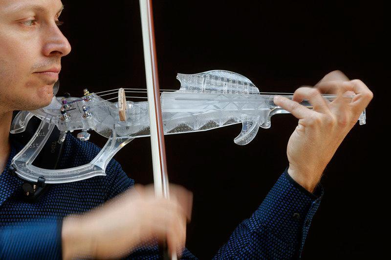 3D печать скрипка музыкальные инструменты