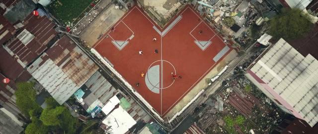 Необычное футбольное поле