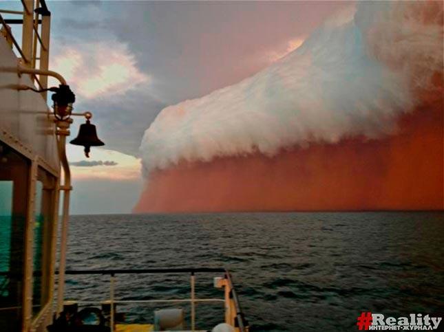 Пылевая буря австралия