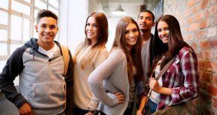 Молодые люди, студенты, друзья, компания