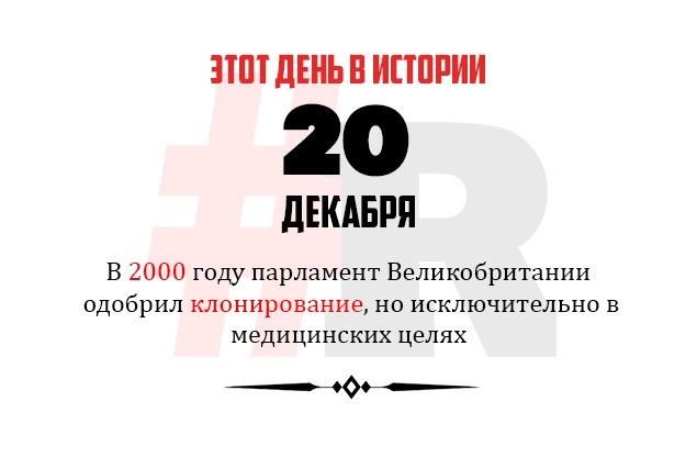 День в истории 20 декабря